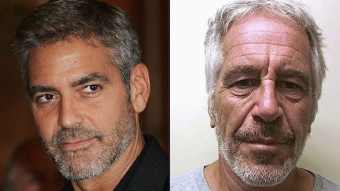 One of Epstein's sex slaves performed a sexual act on George Clooney, witness claims
