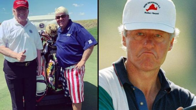 Golf pro John Daly claims President Trump does not cheat at golf, however former president Bill Clinton does.