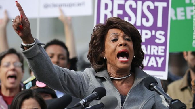 Maxine Waters blamed President Trump for recent mass shootings