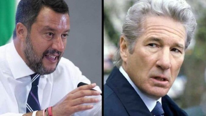 Italy's Interior Minister Matteo Salvini responded to Richard Gere's demand that the country accept more refugees.