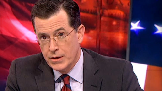"""President Trump is """"proselytizing for the devil"""" and """"is not appealing to the better angels of our nature"""", according to talk show host Stephen Colbert."""