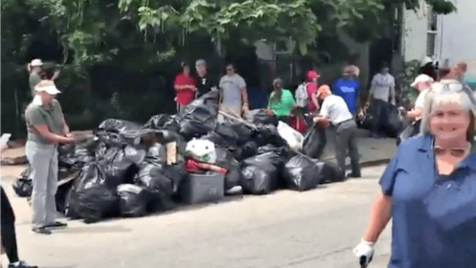 Hundreds of MAGA supporters participated in a cleanup effort earlier this week in West Baltimore, inspired by President Trump's tweets.