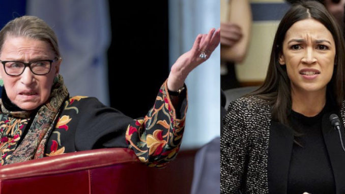 Supreme Court justice and liberal hero Ruth Bader Ginsburg doesn't think too highly about New York Democrat socialist Rep. Alexandra Ocasio-Cortez's plan to nix the Electoral College.