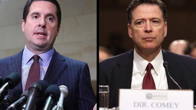 Rep. Devin Nunes says that the U.S. Attorney in Connecticut has evidence to charge James Comey with criminal conspiracy charges.