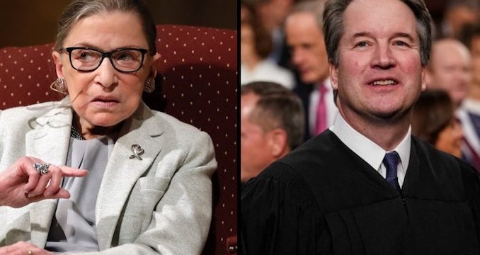 Ruth Bader Ginsburg described Brett Kavanaugh as a very decent man