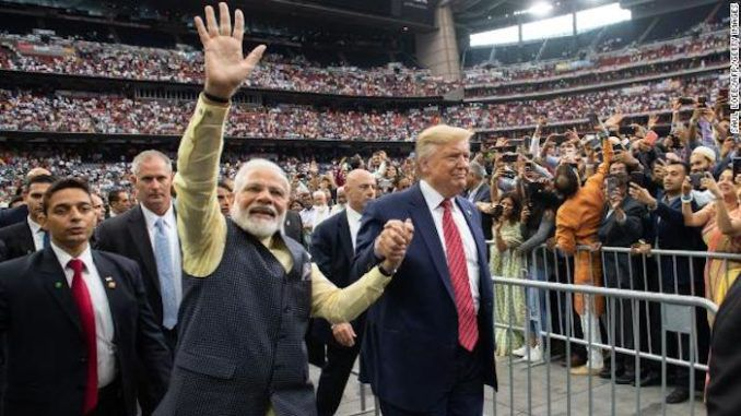 Indian Americans give President Trump standing ovation at packed rally