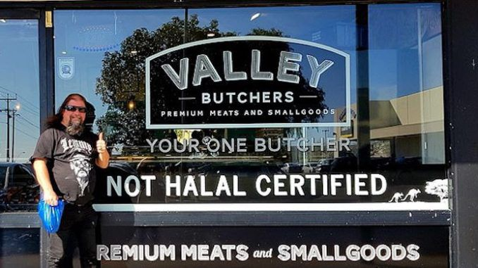 """An Australian butcher has refused to take down a sign that declares his meat is """"not halal certified"""" — and liberals are furious."""