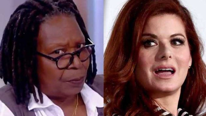 Whoopi Goldberg slams Debra Messing for threatening to name and shame Trump fundraisers