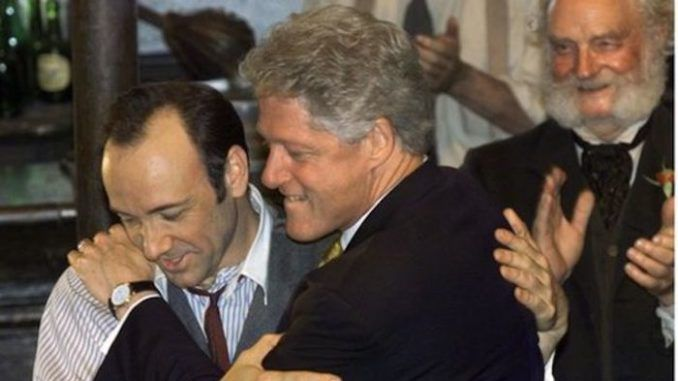 Actor Kevin Spacey flew on Epstein's Lolita Express with Bill Clinton