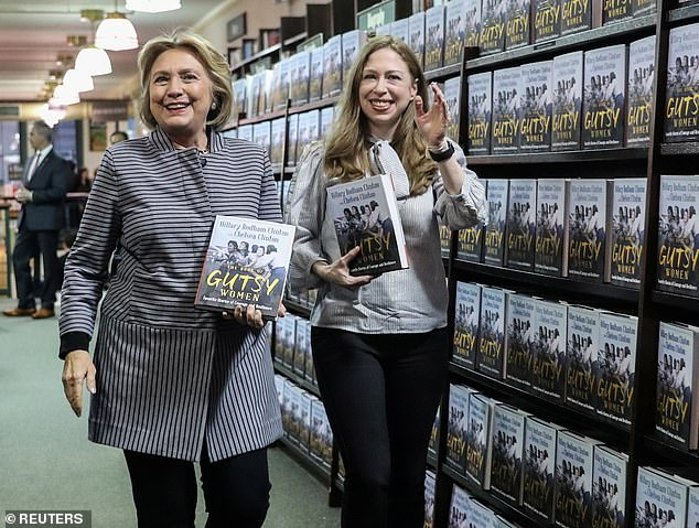 Hillary and Chelsea Clinton promoting their new book, The Book of Gutsy Women.