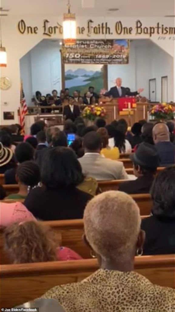 Biden had an appearance at 11 am on Sunday at Jerusalem Baptist Church in Hartsville. He had attended a Catholic Church prior to this