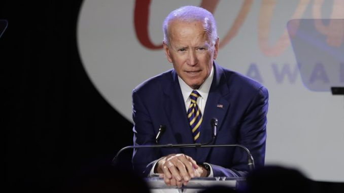 "Democrat presidential nominee Joe Biden attacked President Trump for his ""track record"" with members of the opposite sex."