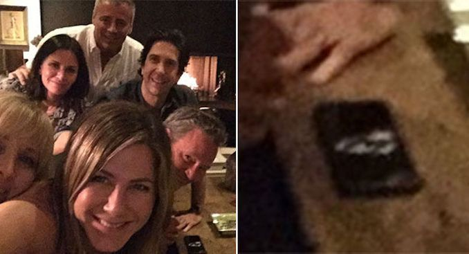 Mysterious white powder spotted in Jennifer Aniston's Friends selfie