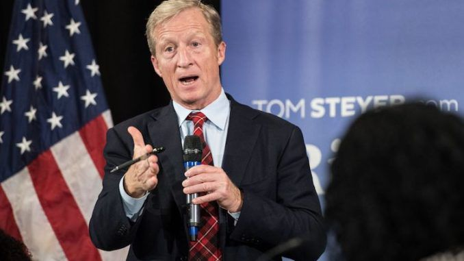 "Tom Steyer, a billionaire and new 2020 Democrat presidential candidate, claims that a Republican victory in the 2020 elections ""could be the end the world."""