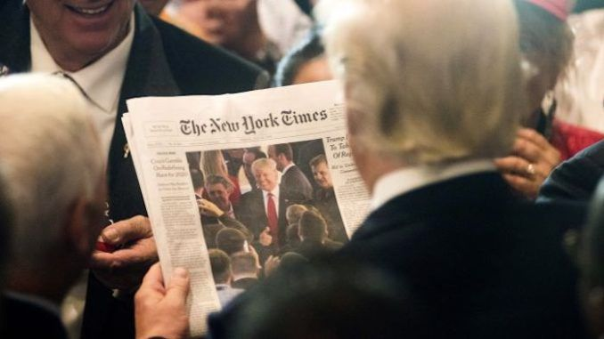 President Trump cancelling government subscriptions to New York Times and Washington Post