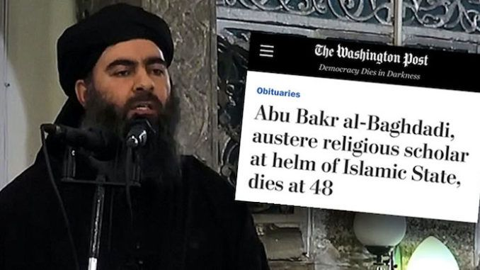 Washington Post caught describing ISIS leader Baghdadi as austere religious leader