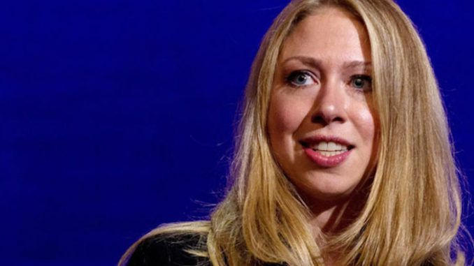 "Chelsea Clinton, the former first daughter, mocked Trump on ""The View"" Wednesday, saying his ""whole life has been a scam."""