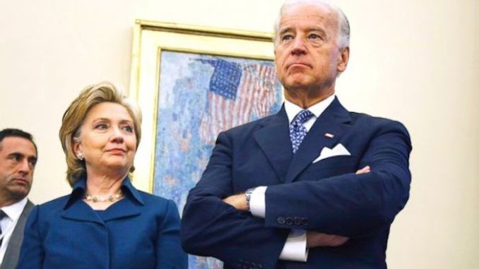"Hillary Clinton has shrugged off concerns regarding Joe Biden's ""inappropriate"" touching of women and girls."