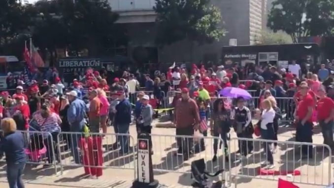 Trump supporters line up for two days to attend Dallas rally