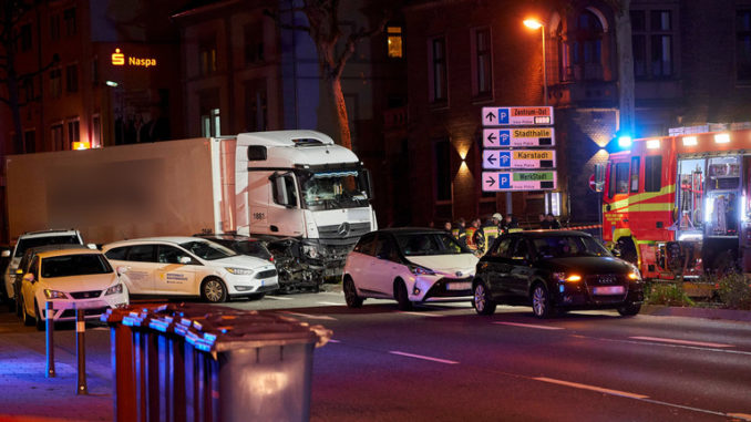 A Syrian migrant shouting in Arabic about Allah ploughed a stolen truck into traffic in the German city of Limburg, injuring 9 people.