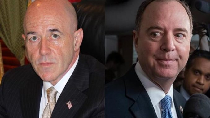"""Rep. Adam Schiff should be charged with """"conspiracy to commit treason,"""" according to former NYPD commissioner Bernard Kerik."""