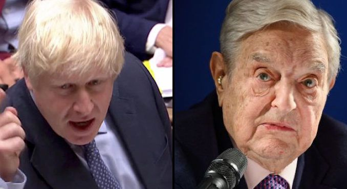 "British Prime Minister Boris Johnson has called for an ""urgent"" probe into George Soros' activities during the Brexit referendum."