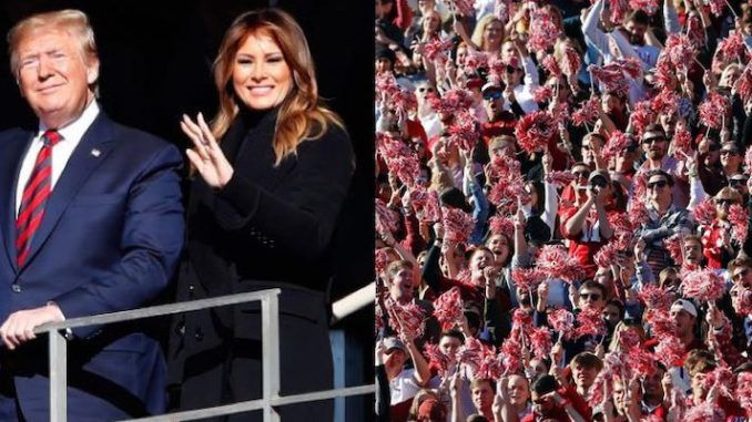 President Trump sparks massive cheers from crowd at LSU-Alabama game