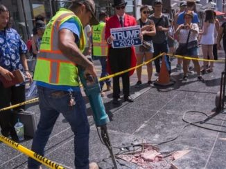 Donald Trump's Hollywood star defaced again in broad daylight