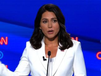 Rep. Tulsi Gabbard, a Democratic presidential candidate, said the U.S. should drop criminal charges against WikiLeaks editor Julian Assange and pardon Edward Snowden.