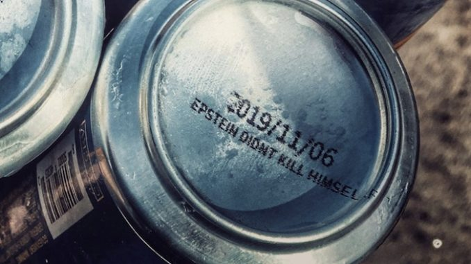 American beer company prints Epstein didn't kill himself on bottom of cans