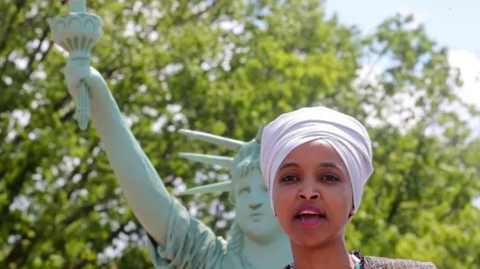 A challenger to Rep. Ilhan Omar said the congresswoman should be tried and hanged for treason if reports about Qatari recruitment are true.