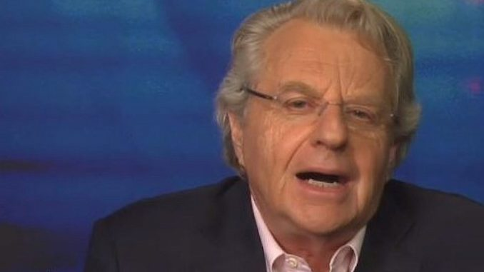 Jerry Springer, who hosted The Jerry Springer Show between 1991 and 2018, has blamed President Donald Trump for America's lack of civility.