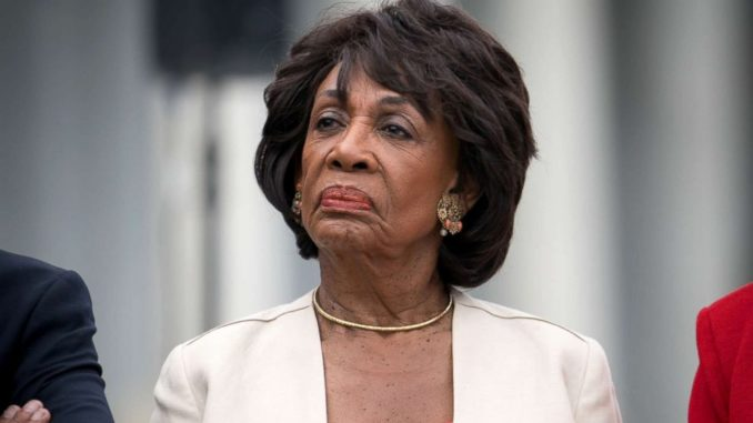 Maxine Waters slams Trump for trying to expose 'patriotic whistleblower'