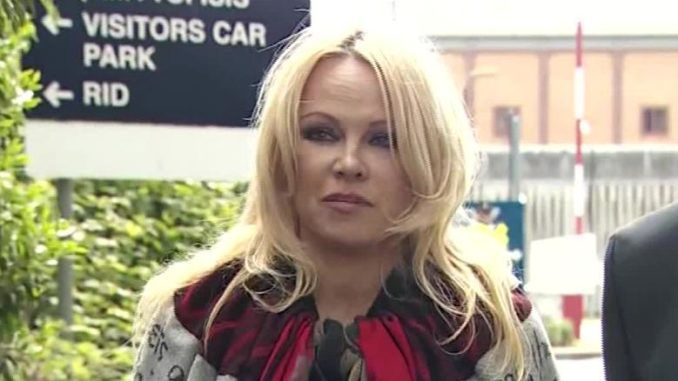 Pamela Anderson asks President Trump to pardon Julian Assange