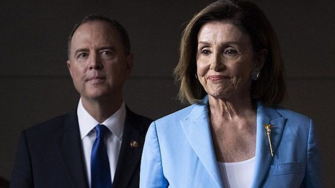 Trump slams Pelosi and Schiff for trying to overthrow election