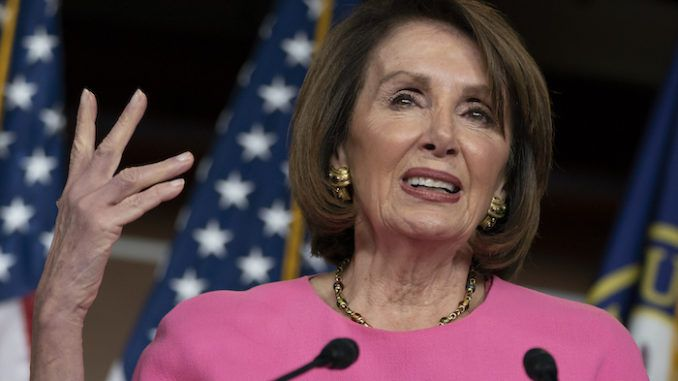 Nancy Pelosi insists President Trump must prove his innocence