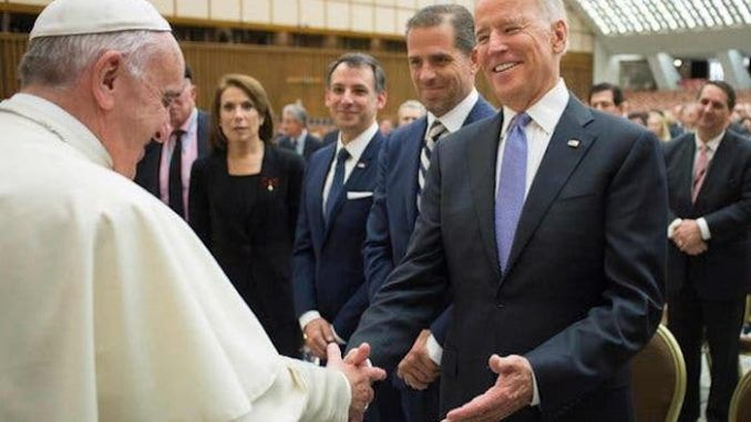 Former vice president Joe Biden, who was recently denied Holy Communion by a South Carolina priest, says that Pope Francis has given him Holy Communion, despite his pro-abortion platform.