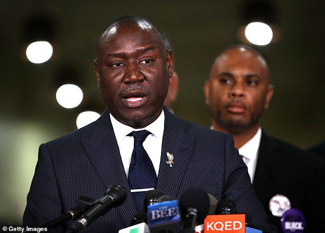 The family's attorney, Ben Crump (pictured), is also named as a defendant. He is accused of defamation and attempting to 'deprive Zimmerman of his constitutional and other legal rights'