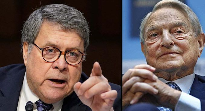 AG Bill Barr calls out George Soros for subverting the U.S. legal system and causing an increase in violent crime