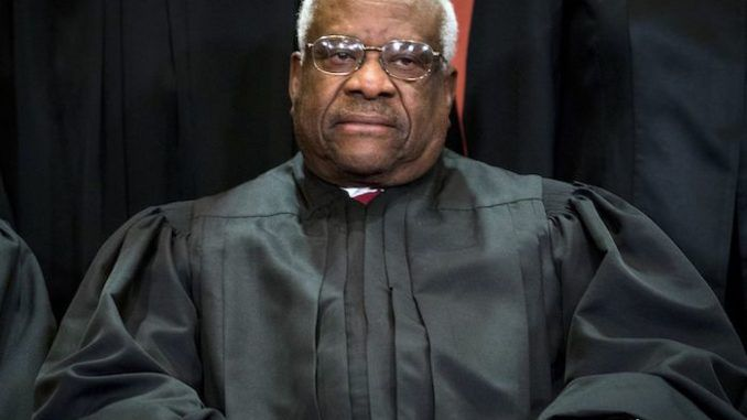 "Supreme Court Justice Clarence Thomas said ""the modern-day liberal"" has proven to be a bigger ""impediment"" towards him as a black man than members of the Ku Klux Klan."