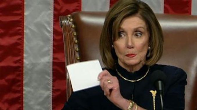Nancy Pelosi vows to withhold impeachment articles from Senate unless they bow to her demands