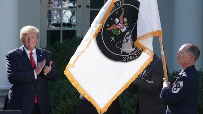 """President Donald Trump officially founded the US Space Force on Friday, proclaiming that """"Among grave threats to our national security, American superiority in space is absolutely vital."""""""