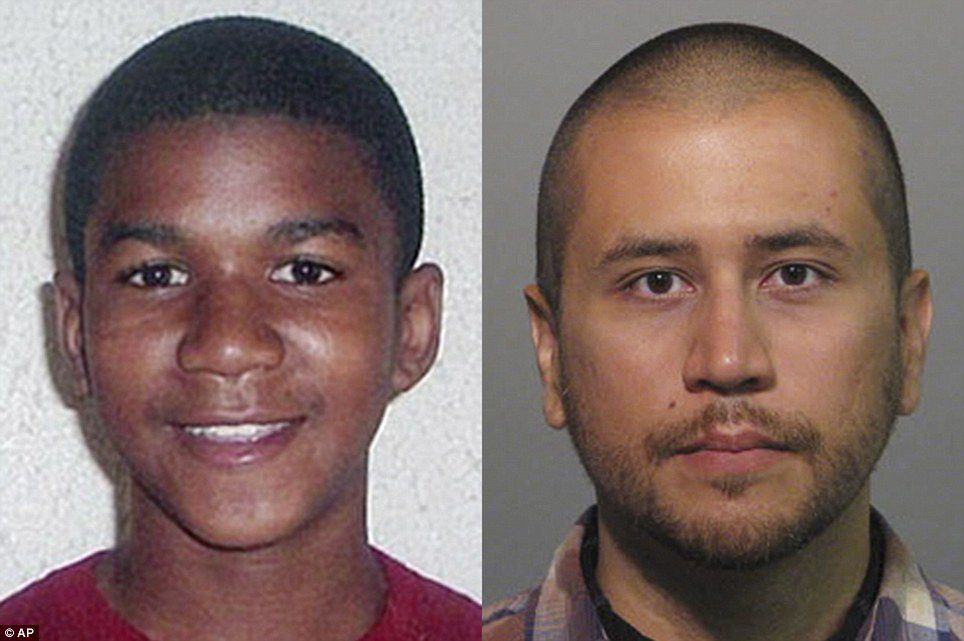 Zimmerman (right), a former neighborhood watch volunteer, was acquitted of homicide charges in Martin's death in 2013 after he claimed he acted in self defense when the 17-year-old (left) attacked him at a gated community in Sanford, Florida