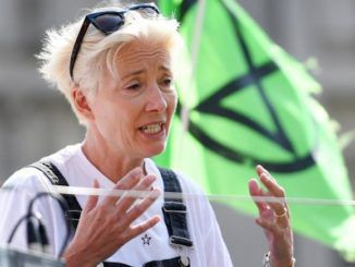 """Actress Emma Thompson has warned the climate crisis means we must expect """"crop failures, water contamination, damaged houses and ruined lives"""""""