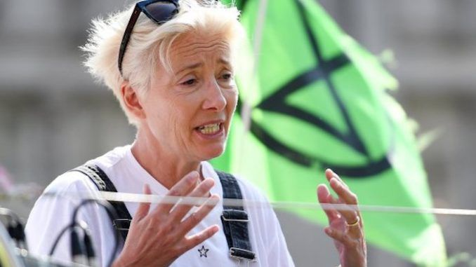 "Actress Emma Thompson has warned the climate crisis means we must expect ""crop failures, water contamination, damaged houses and ruined lives"""