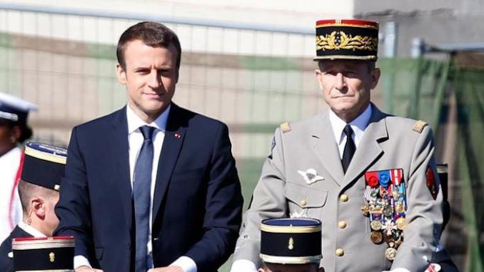 French president Emmanuel Macron accused of treason by French Generals