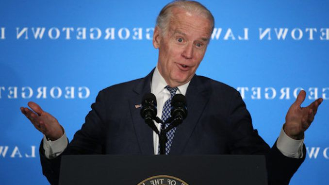 """Democrat presidential candidate Joe Biden appeared to suggest that a non-citizen """"might be able"""" to run for the office of President of the United States of America, during a town hall even in Iowa on Tuesday."""