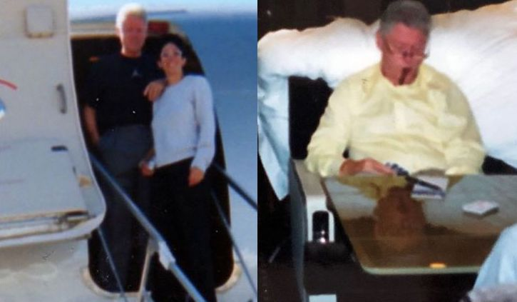 New photographs show Bill Clinton aboard Epstein's pedophile plane
