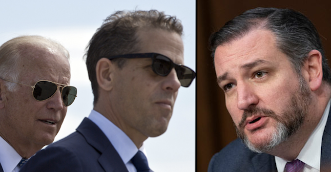 Ted Cruz suggests that Joe and Hunter Biden should be forced to testify in upcoming Senate impeachment trial