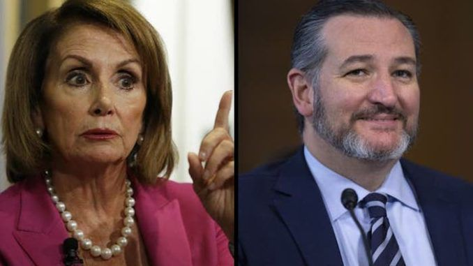Ted Cruz triggers Nancy Pelosi by saying Trump will be acquitted FOREVER from bogus impeachment charges